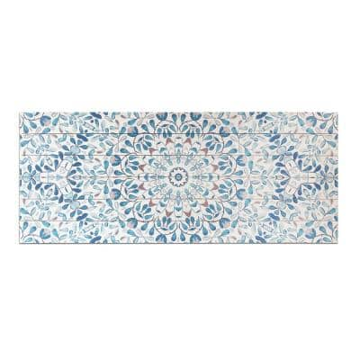 Ornate Pattern Planked Wood Pattern Abstract Art Print 19 in. x 45 in.