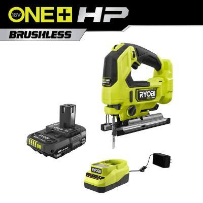 RYOBI ONE+ HP 18-Volt Brushless Cordless Jig Saw with 2.0 Ah Battery and Charger