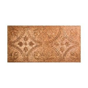 Traditional #5 2 ft. x 4 ft. Glue Up Vinyl Ceiling Tile in Cracked Copper (40 sq. ft.)