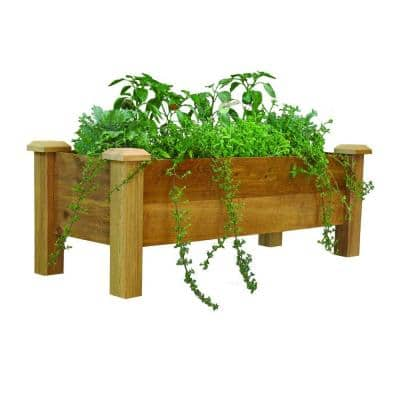 48 in. x 18 in. Rustic Cedar Planter Box