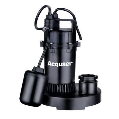 1/3 HP Submersible Plastic Base Sump Pump