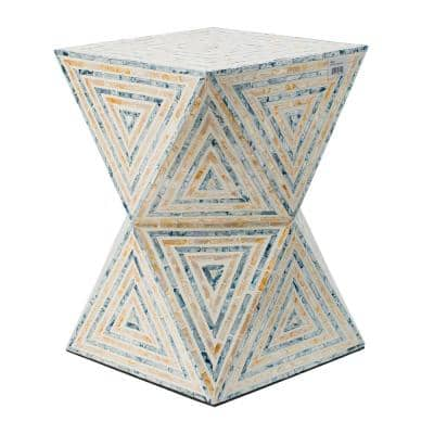 Yellow, Blue Non-Upholstered Stool