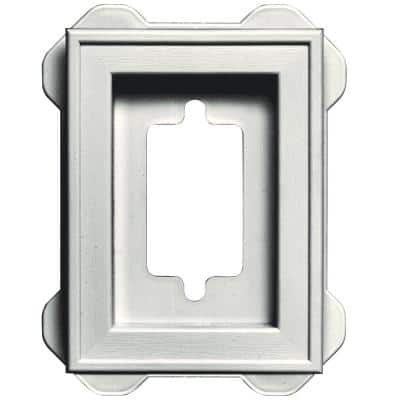 5 in. x 6.75 in. #123 White Recessed Mini Universal Mounting Block