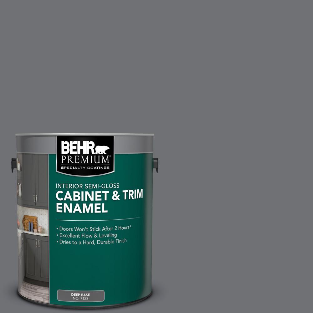 1 gal. #PPU18-03 Antique Tin Semi-Gloss Enamel Interior Cabinet and Trim Paint