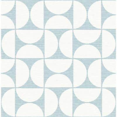 Brewster Blue Abstract Wallpaper Home Decor The Home Depot