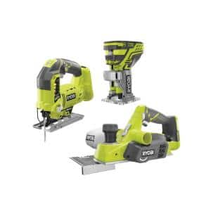 ONE+ 18V Cordless Jig Saw, Trim Router, and Planer (Tools Only)