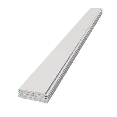 1 in. x 8 in. x 8 ft. Timeless Primed White Smooth Nickel Gap Pine Shiplap (4-Pack)