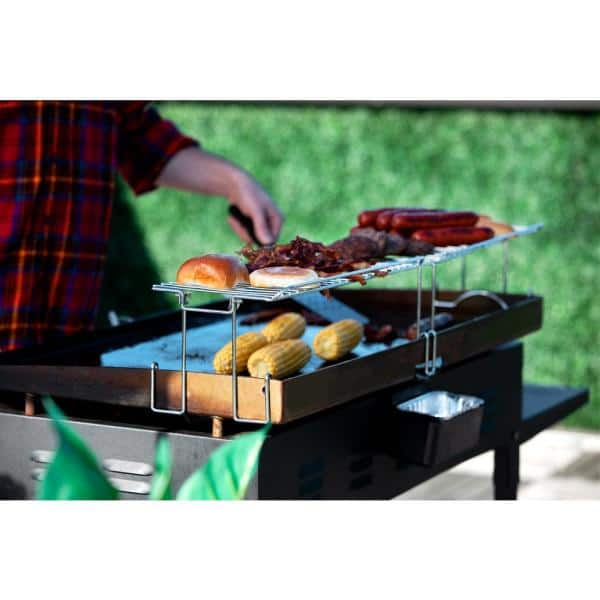 Griddle Warming Rack Cooking Accessory Raised Design Stainless Steel Heavy Duty