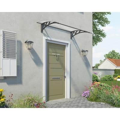 Neo 3 ft. x 5 ft. Gray/Diffused Door and Window Awning