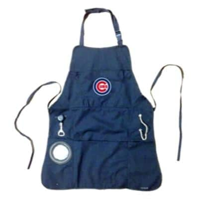 Chicago Cubs MLB 24 in. x 31 in. Cotton Canvas 5-Pocket Grilling Apron with Bottle Holder