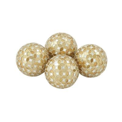Gold Plastic Glam Orbs and Vase Filler (Set of 4)