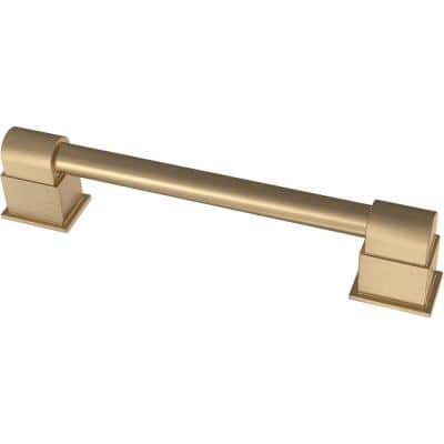 Deco 4 in. or 5-1/16 in. (102 mm or 128 mm) Champagne Bronze Deco Dual Mount Drawer Pull