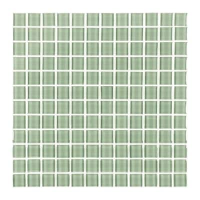 Metro Celery Green 1 in. x 1 in. Glossy Glass Square Mosaic Tile (10.78 sq. ft./Case)