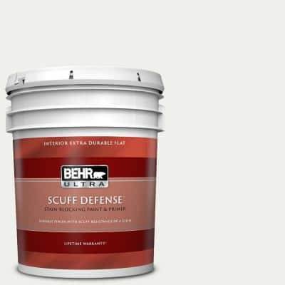 5 gal. #57 Frost Extra-Durable Flat Interior Paint & Primer