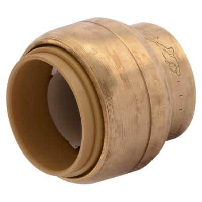 3/4 in. Push-to-Connect Brass End Stop Fitting