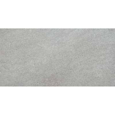 Alpe Graphite 12 in. x 24 in. Porcelain Floor and Wall Tile (1.94 sq. ft. / each)