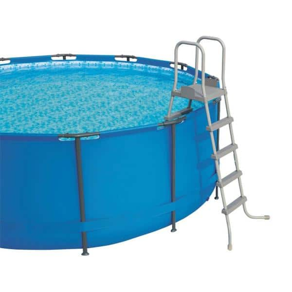 Bestway 52 In Steel Above Ground Swimming Pool Ladder No Slip Steps Above Ground Pool 2 Pack 193802139129 The Home Depot