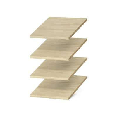 12 in. x 14 in. Harvest Grain Wood Shelves (4-Pack)
