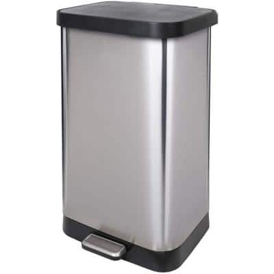 20 Gal. Stainless Steel Step Can with Antimicrobial Lid