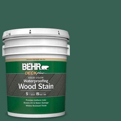 5 gal. #M430-7 Green Agate Solid Color Waterproofing Exterior Wood Stain