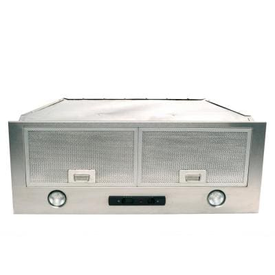 Classic Collection 34 in. 550 CFM Rectangle Opening Insert Range Hood with Light in Stainless Steel