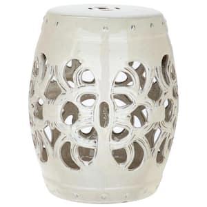 Imperial Vine Cream Ceramic Garden Stool
