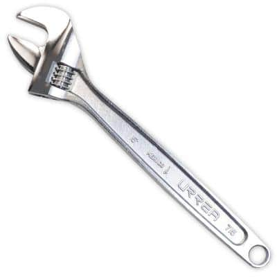 8 in. Long Chrome Adjustable Wrench