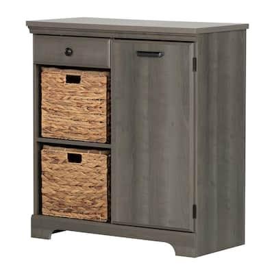 Versa Gray Maple Storage Cabinet