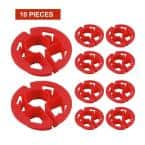1 in. Metal Stud Insulator for Piping, Wiring, Cable, Running Through Beam; PEX Copper Cushion; Polyethylene (10-Pack)