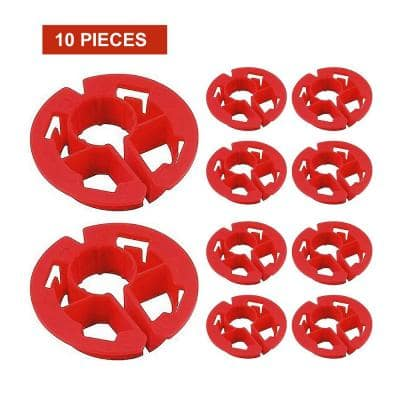 1/2 in. Metal Stud Insulator for Piping, Wiring, Cable, Running Through Beam; PEX Copper Cushion; Polyethylene (10-Pack)