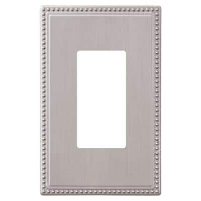 Perlina 1 Gang Rocker Metal Wall Plate - Brushed Nickel