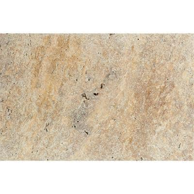 Tuscany Scabas 16 in. x 24 in. Gold Tumbled Travertine Paver Tile (15 Pieces / 40.05 Sq. Ft. / Pallet)