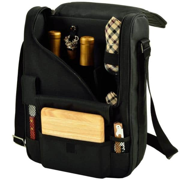 Bordeaux Wine And Cheese Cooler Bag With Glass Wine Glasses Equipped For 2 535 L The Home Depot