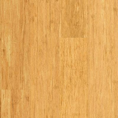 Natural 9/16 in. T x 5.31 in. W x 72.87 in. L W Click Bamboo Engineered Hardwood Flooring (21.50 sq. ft.)