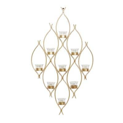 Bronze Contemporary Metal Candle Wall Sconces