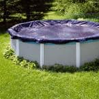 Swimline 33 ft. Round Blue Heavy-Duty Above Ground Winter Pool Cover (6-Pack)