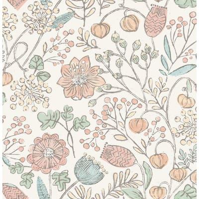 Pastel Southern Trail Pinks Wallpaper Sample