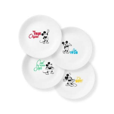 8.5 in. Mickey Mouse - The True Original Salad/Lunch Plates (Set of 4)