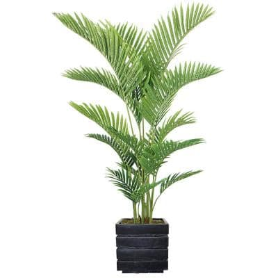 69 in. Real Touch Palm Tree in Fiberstone Planter