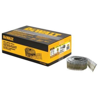 1-3/4 in. x 0.080 in. Galvanized Metal Ring Shank Coil Nails (4200-Pieces)