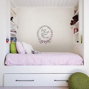 Pink Grow Through Wall Decal