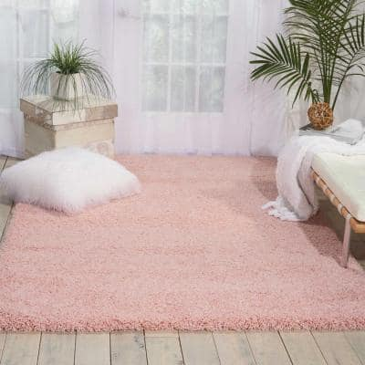Amore Blush 8 ft. x 11 ft. Shag Contemporary Area Rug