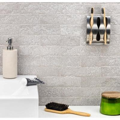 Weston Temp White 2 in. x 8 in. 14mm Matte Clay Subway Wall Tile (40-piece 4.78 sq. ft. / box)
