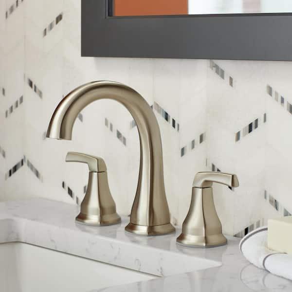 https www homedepot com p delta portwood 8 in widespread 2 handle bathroom faucet in spotshield brushed nickel 35770lf sp 305436077
