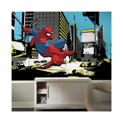72 in. x 126 in. Spider-Man Classic XL Chair Rail 7-Panel Prepasted Mural