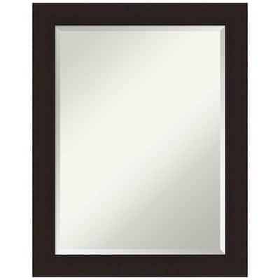 Carlisle 22 in. x 28 in. Rustic Rectangle Framed Espresso Bathroom Vanity Wall Mirror