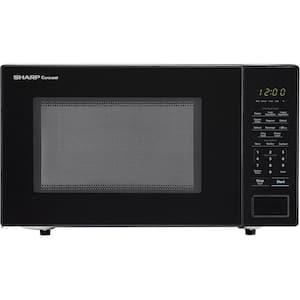 Carousel 1.1 cu. ft. 1000-Watt Countertop Microwave Oven in Black (ISTA 6 Packaging)