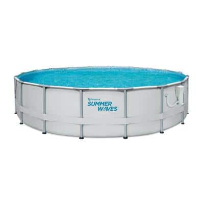 Elite 12 ft. Round 30 in. Metal Frame Above Ground Pool Set with Filter Pump
