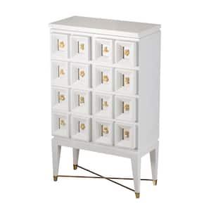 Cream, White Accent Cabinet