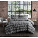 Nina 3-Piece Grey King Comforter Set
